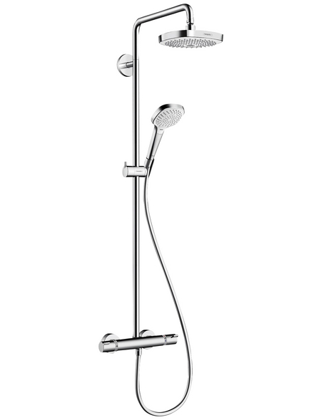 HANSGROHE Brause-Set »Croma Select E«, Höhe: 114,1 cm, weiß/chromfarben