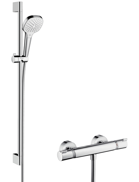 HANSGROHE Brause-Set »Croma Select E«, Höhe: 95,9 cm, chromfarben/weiss