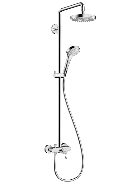 HANSGROHE Brause-Set »Croma Select S«, Höhe: 114,1 cm, chromfarben/weiss