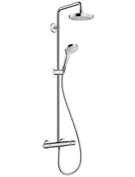HANSGROHE Brause-Set »Croma Select S«, Höhe: 133,6 cm, weiß/chromfarben