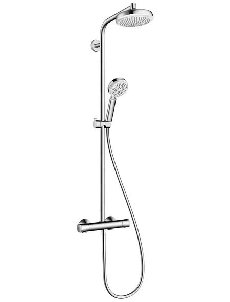 HANSGROHE Brause-Set »Crometta 100«, Höhe: 109,9 cm, chromfarben/weiss