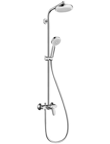 HANSGROHE Brause-Set »Crometta 100«, Höhe: 109,9 cm, weiss/chromfarben