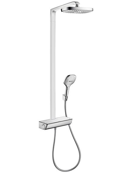 HANSGROHE Brause-Set »Raindance Select E«, Höhe: 106,6 cm, weiss/chromfarben