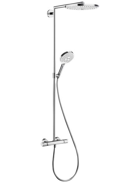 HANSGROHE Brause-Set »Raindance Select S«, Höhe: 107,5 cm, weiss/chromfarben