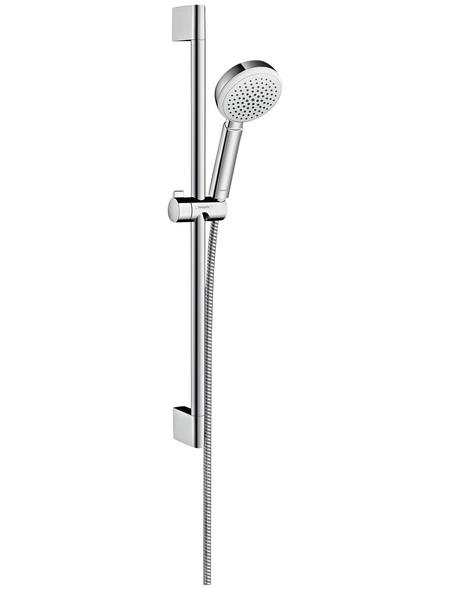 HANSGROHE Brausegarnitur »Crometta 100«, Höhe: 66,9 cm, chromfarben/weiss