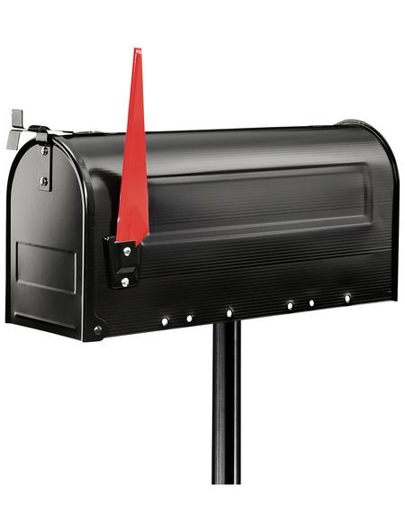 BURG WÄCHTER Briefkastenpfosten »US-Mailbox 893«, Stahl, schwarz