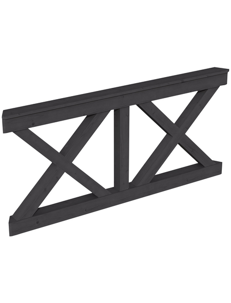 SKANHOLZ Brüstung, B x H: 78,5 x 84 cm, schiefergrau
