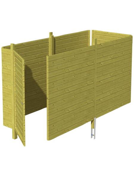 SKANHOLZ Brüstung, Breite: 78,5 cm, grün
