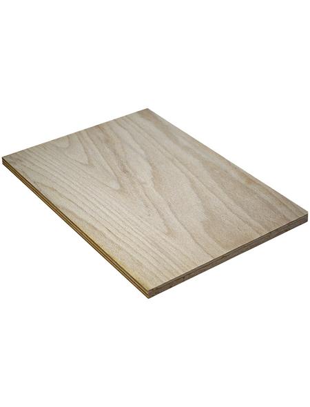 Buche Sperrholzplatte, 2200x1250x12 mm , Natur