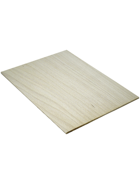 Buche Sperrholzplatte, 2200x1250x4 mm , Natur