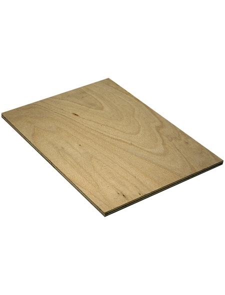 Buche Sperrholzplatte, 2200x1250x6 mm, Natur