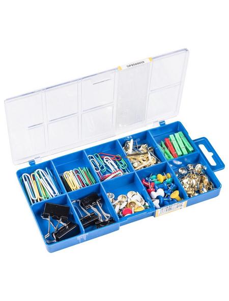 CONNEX Büroartikel-Sortimentskasten, für Arbeiten in Haushalt und Büro, Metall