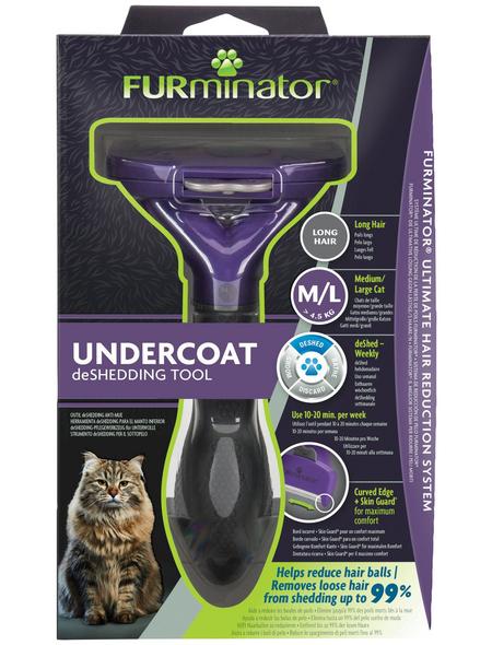 FURMINATOR Bürste »deShedding TOOL« M/L Langhaar, für Katzen über 4,5 kg