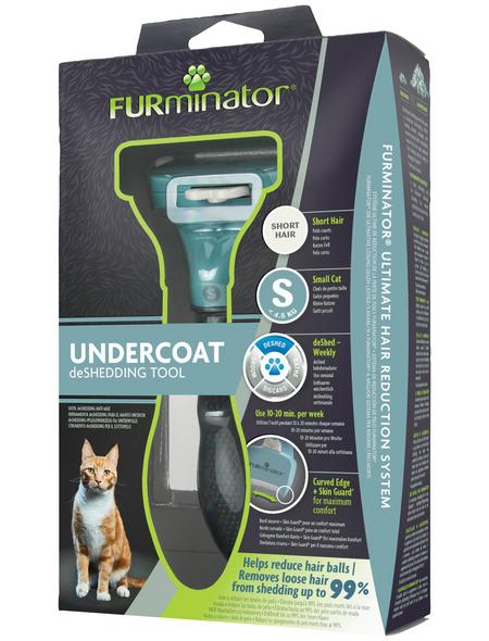 FURMINATOR Bürste »deShedding TOOL«, S Kurzhaar, für kleine Katzen bis zu 4,5 kg, türkis