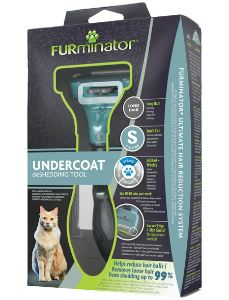 FURMINATOR Bürste »deShedding TOOL«, S Langhaar, für kleine Katzen bis zu 4,5 kg, türkis
