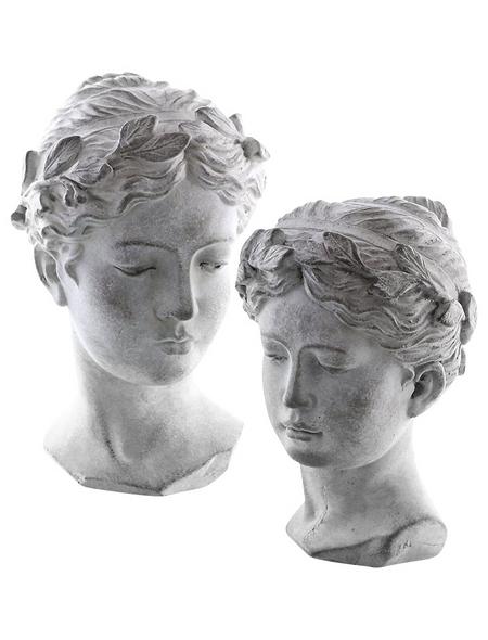 Büste »Hera«, Beton, grau