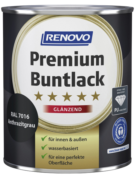 RENOVO Buntlack, anthrazitgrau, glänzend