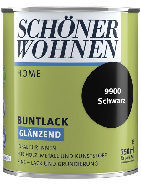 SCHÖNER WOHNEN FARBE Buntlack »DurAcryl hochglänzend«, schwarz hochglanz, hochglänzend