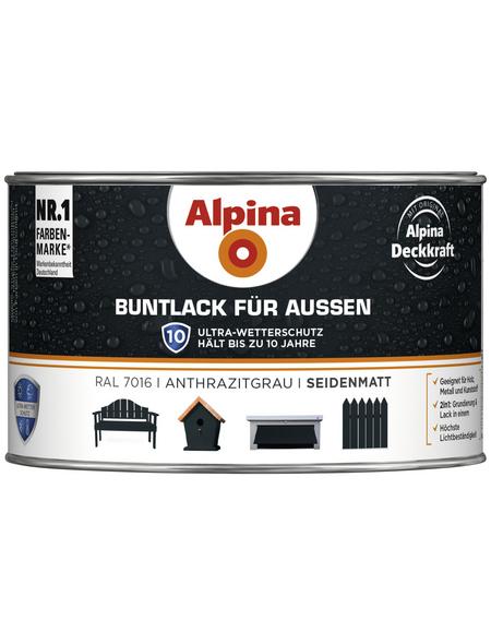 ALPINA Buntlack, grau, seidenmatt