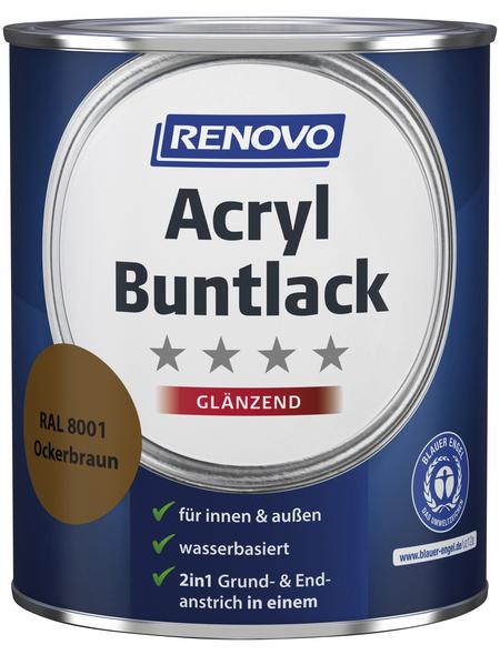RENOVO Buntlack, ocker, glänzend, 0,75 l