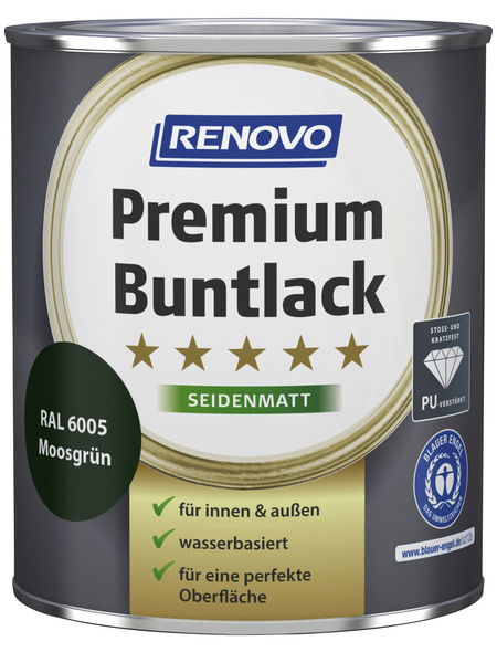 RENOVO Buntlack »Premium«, moosgrün, seidenmatt