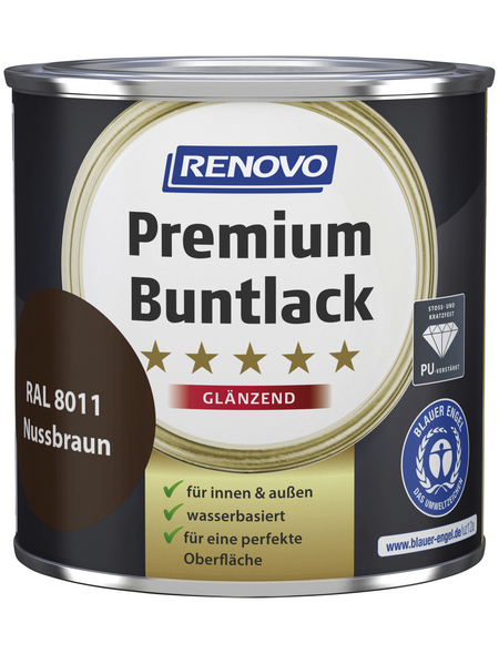 RENOVO Buntlack »Premium«, nussbraun, glänzend