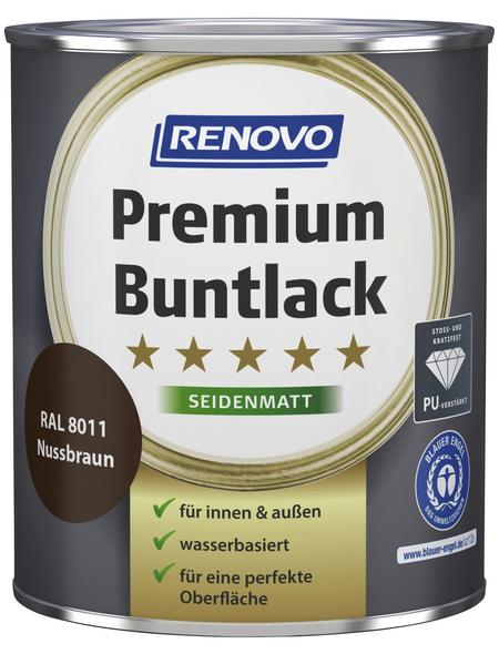 RENOVO Buntlack »Premium«, nussbraun, seidenmatt
