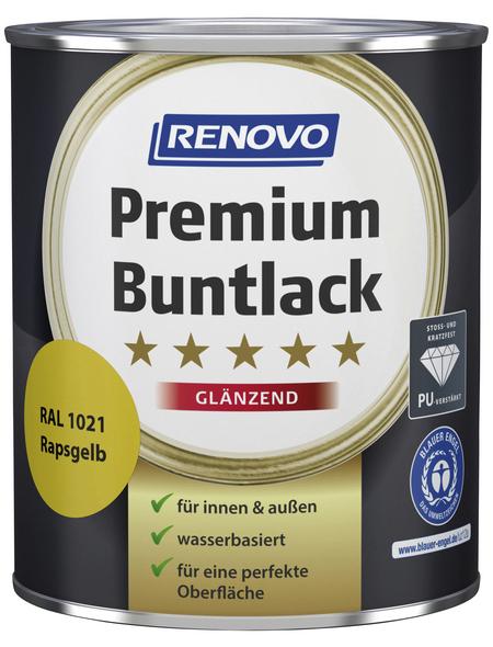 RENOVO Buntlack »Premium«, rapsgelb, glänzend