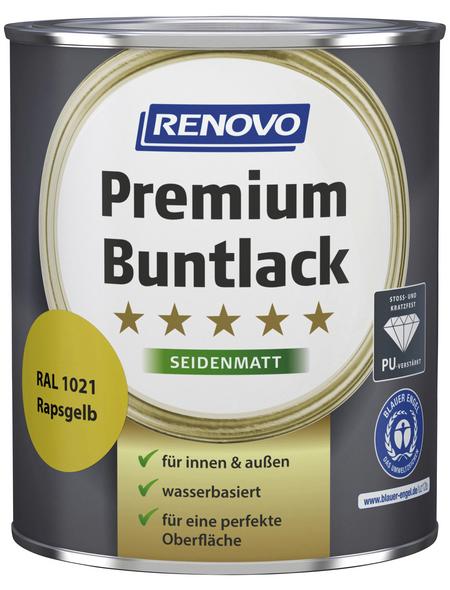 RENOVO Buntlack »Premium«, rapsgelb, seidenmatt