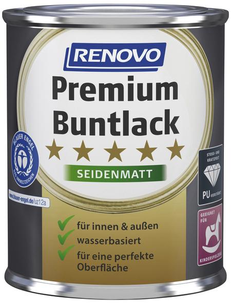 RENOVO Buntlack »Premium«, schwarz, seidenmatt