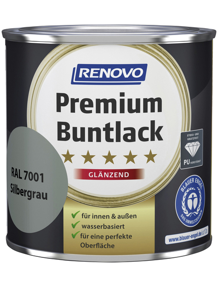 RENOVO Buntlack »Premium«, silbergrau, glänzend