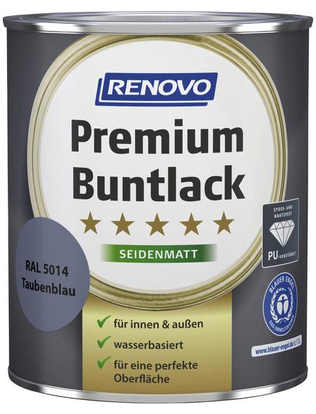 RENOVO Buntlack »Premium«, taubenblau, seidenmatt