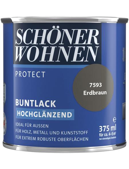 SCHÖNER WOHNEN Buntlack »Protect«, erdbraun , hochglänzend