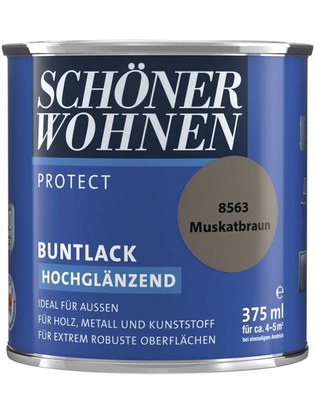 SCHÖNER WOHNEN Buntlack »Protect«, muskatbraun , hochglänzend