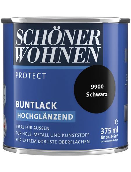 SCHÖNER WOHNEN Buntlack, schwarz , hochglänzend
