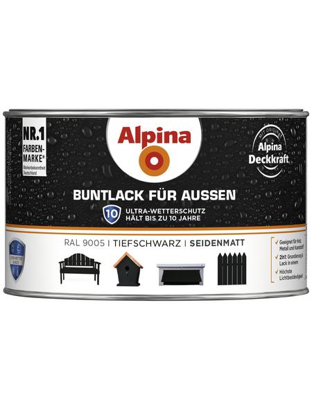 ALPINA Buntlack, schwarz , seidenmatt