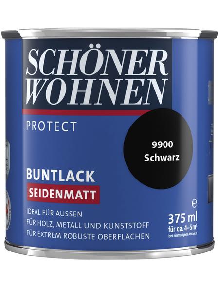 SCHÖNER WOHNEN Buntlack, schwarz , seidenmatt
