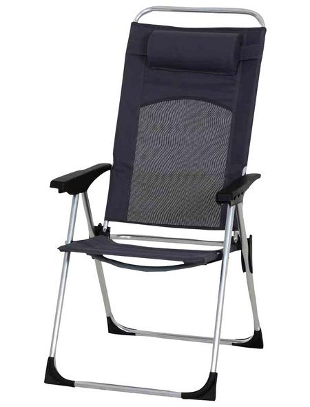 GARDAMO Camping-Stuhl, BxHxL: 55 x 55 x 72 cm, Aluminium