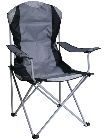Camping-Stuhl »Deluxe«, BxHxT: 60 x 110 x 53 cm, Stahl/Textil