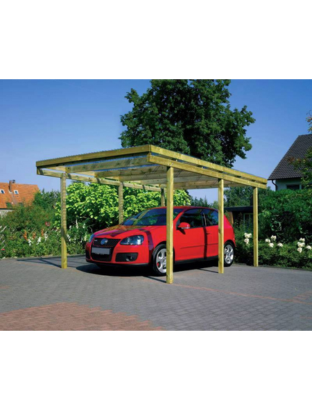 Carport »Aktion«, BxHxT: 304 x 233 x 510 cm, grün