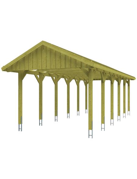 SKANHOLZ Carport, B x T x H: 380 x 900 x 313 cm, grün