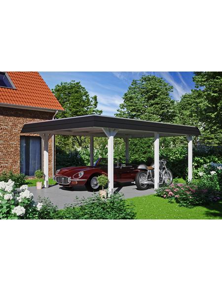 SKANHOLZ Carport, B x T x H: 409  x 628  x 247  cm, weiß
