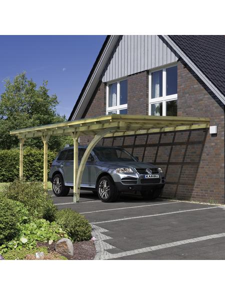 KARIBU Carport »Eco 3«, Außenmaß BxT: 324 x 576 cm, grün