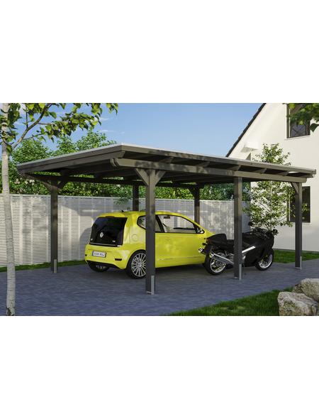 SKANHOLZ Carport »Emsland«, Außenmaß BxT: 365 x 496 cm, schiefergrau