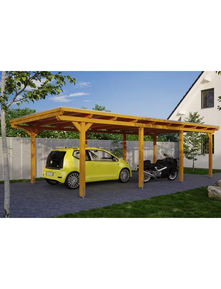 SKANHOLZ Carport »Emsland«, Außenmaß BxT: 365 x 738 cm