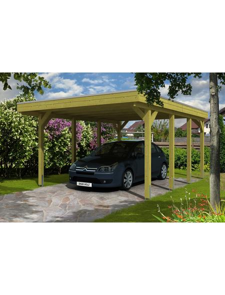 SKANHOLZ Carport »Friesland«, Außenmaß BxT: 378 x 469 cm