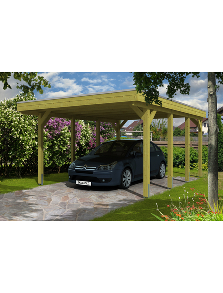 SKANHOLZ Carport »Friesland«, Außenmaß BxT: 378 x 469 cm, grün