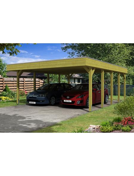SKANHOLZ Carport »Friesland«, Außenmaß BxT: 537 x 622 cm, grün