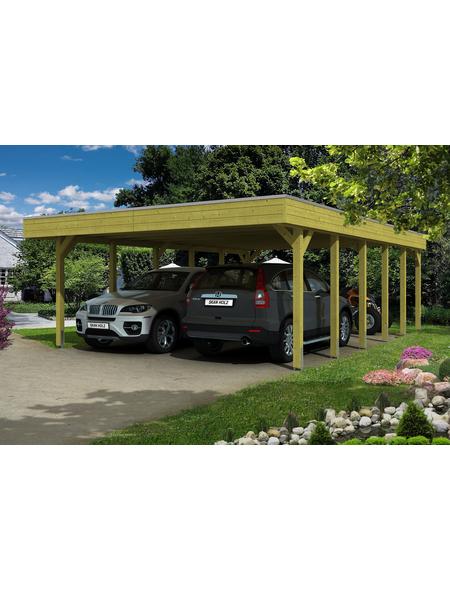 SKANHOLZ Carport »Friesland«, Außenmaß BxT: 537 x 774 cm, grün