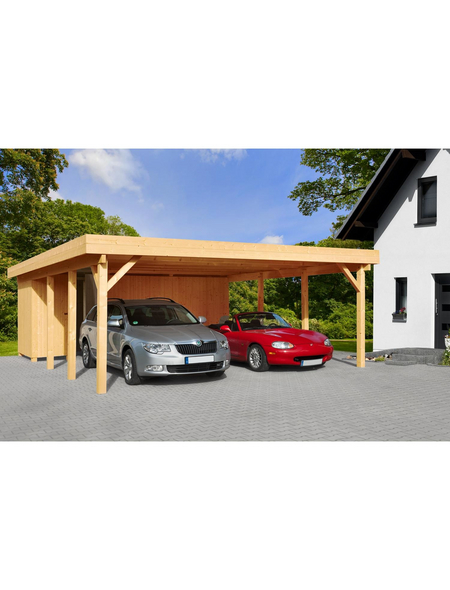 MR. GARDENER Carport »Heidelberg 2«, Außenmaß BxT: 555 x 732 cm, braun
